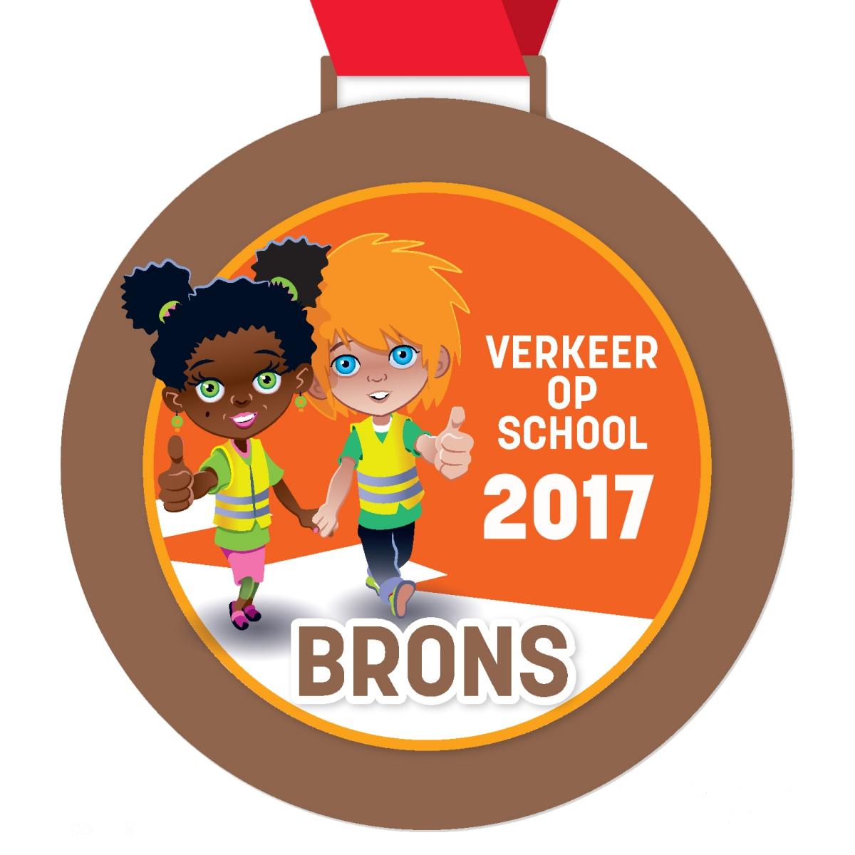 medaille verkeer op school